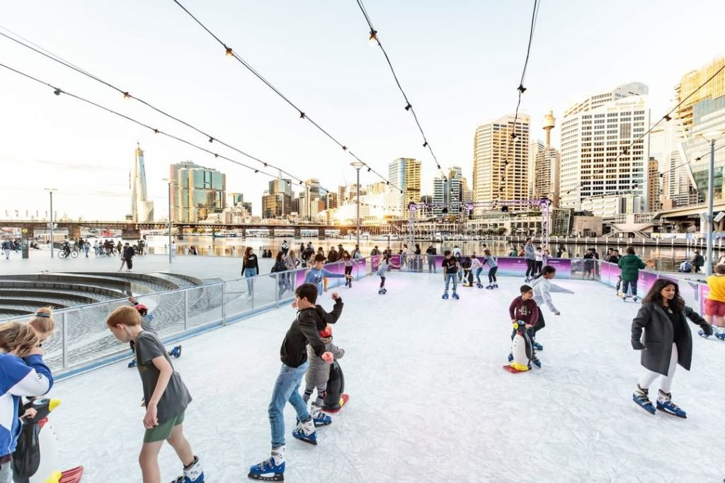 Darling Harbour Gets An Ice Rink For The School Holidays (But It's Not Just For The Kids)