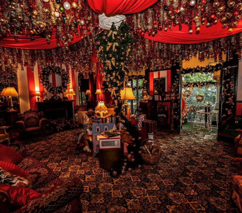 Christmas Will Continue Into The New Year At This Tinsel And Bauble Decorated Bar · The Wonderland Bar
