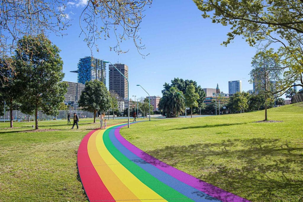 Surry Hills Is Marking 3 Years Of Marriage Equality With A Proud Rainbow Path