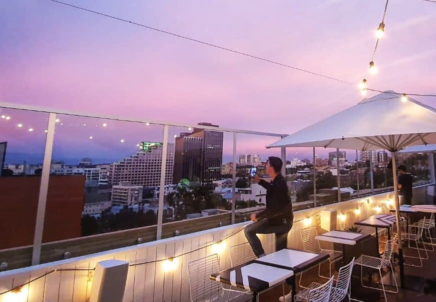 This Happy Hour Is Doing $5 Beers and Wines With Spectacular Views Thrown In For Free · The Burdekin Rooftop