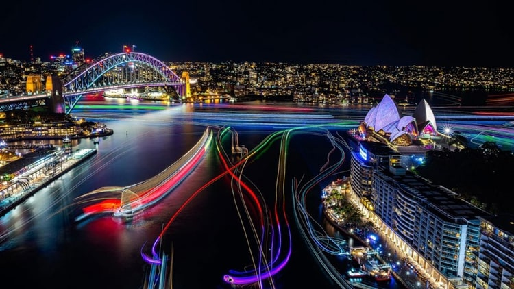 See The Sights, Lights And Colours Of Vivid Sydney From The Water On This Evening Cruise