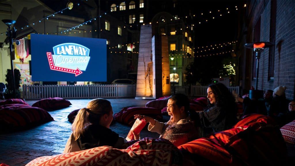 Watch Your Favourite Musicals Under The Stars At This Cosy Outdoor Cinema At The Rocks • Laneway Cinema
