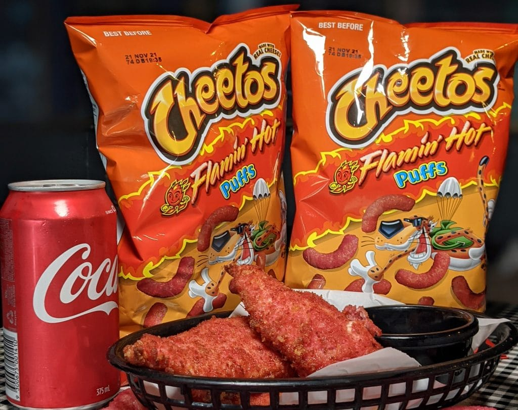 This Burger Joint In Penrith Is Serving Flamin' Hot Cheetos Chicken Tenders • Downtown Brooklyn