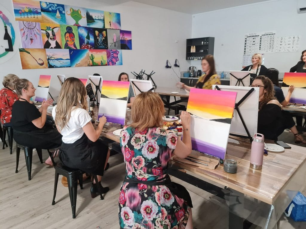 Enjoy A Therapeutic Night Of Paint And Wine At Home With This Virtual Studio