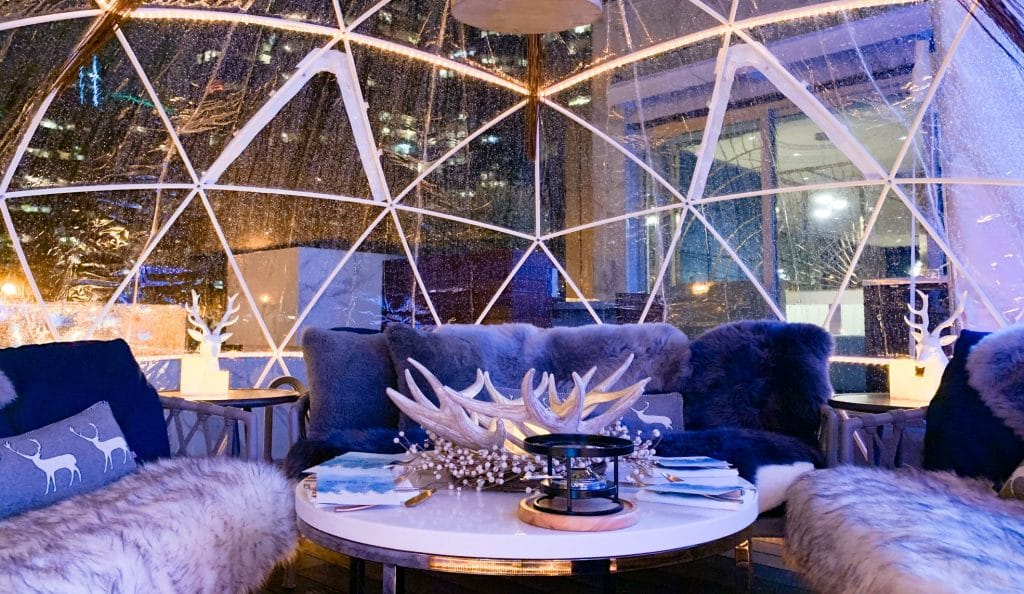 You Can Now Dine In A Magical Snow Globe Next To The Vancouver Harbour Waterfront • Winterlust