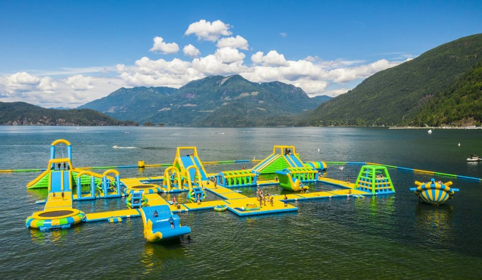 Canada's Largest Floating Waterpark In Harrison Hot Springs