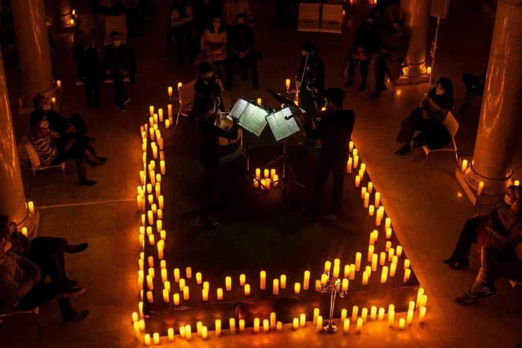 Zürich füllt sich mit Kerzen zum Feiern einer Vivaldi-Konzertreihe