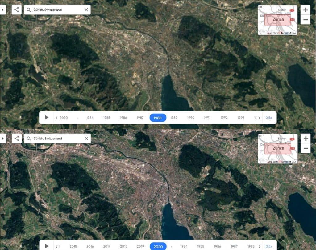 So hat sich Zürich in den letzten 40 Jahren verändert