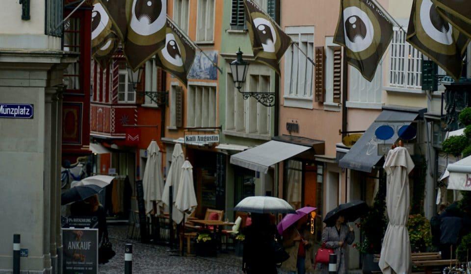 Zürich hat ein regnerischeres Wetter als London