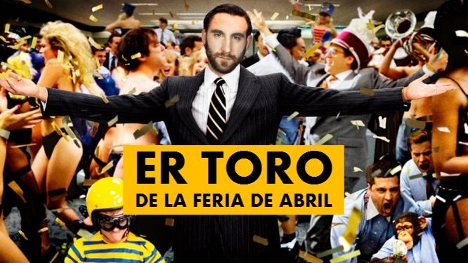 Er toro de la Feria de Abril: así sería 'El lobo de Wall Street' en Sevilla