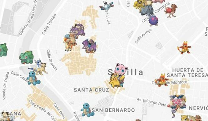 El mapa con el que podrás atrapar Pokémon en Sevilla
