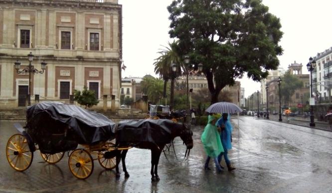 Esta semana tenemos alerta amarilla por lluvias en Sevilla
