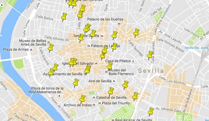¡Tenemos el mapa de «50 cosas que comer en Sevilla»!