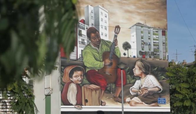 ¿Todavía no habéis visto el grafiti de Murillo en Polígono Sur?