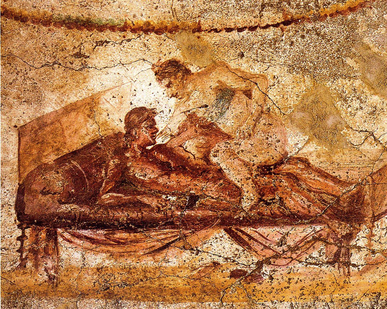 1280px-Pompeii_-_Lupanar_-_Erotic_Scene_-_MAN