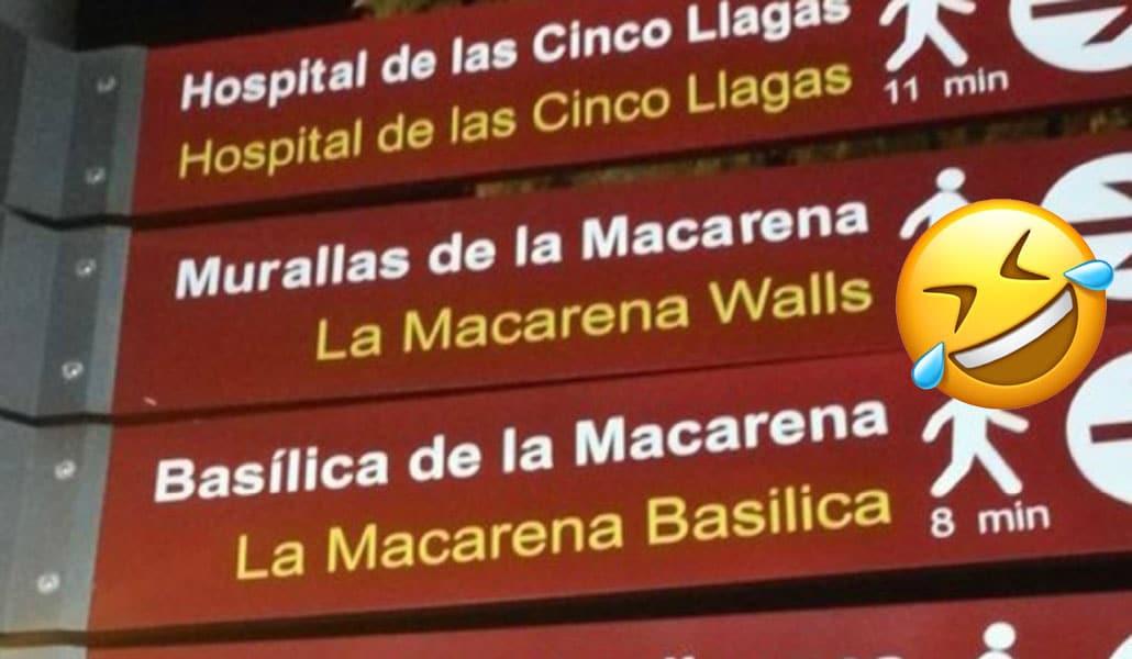 Las mejores reacciones a las traducciones de los carteles de Sevilla