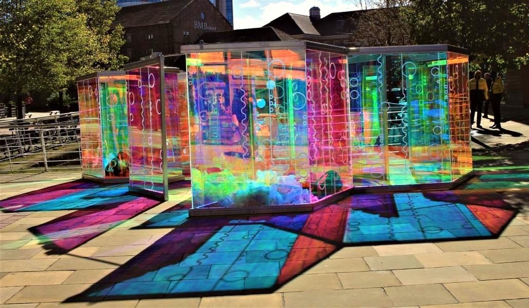 El próximo lunes se inaugura el «laberinto de luz» de la Alameda