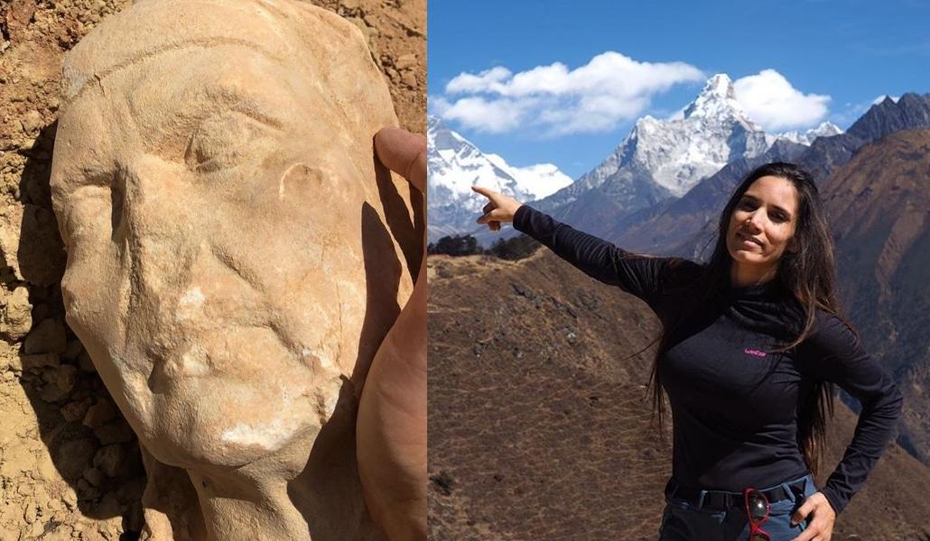 La cantante India Martínez descubre un hallazgo arqueológico en Dos Hermanas