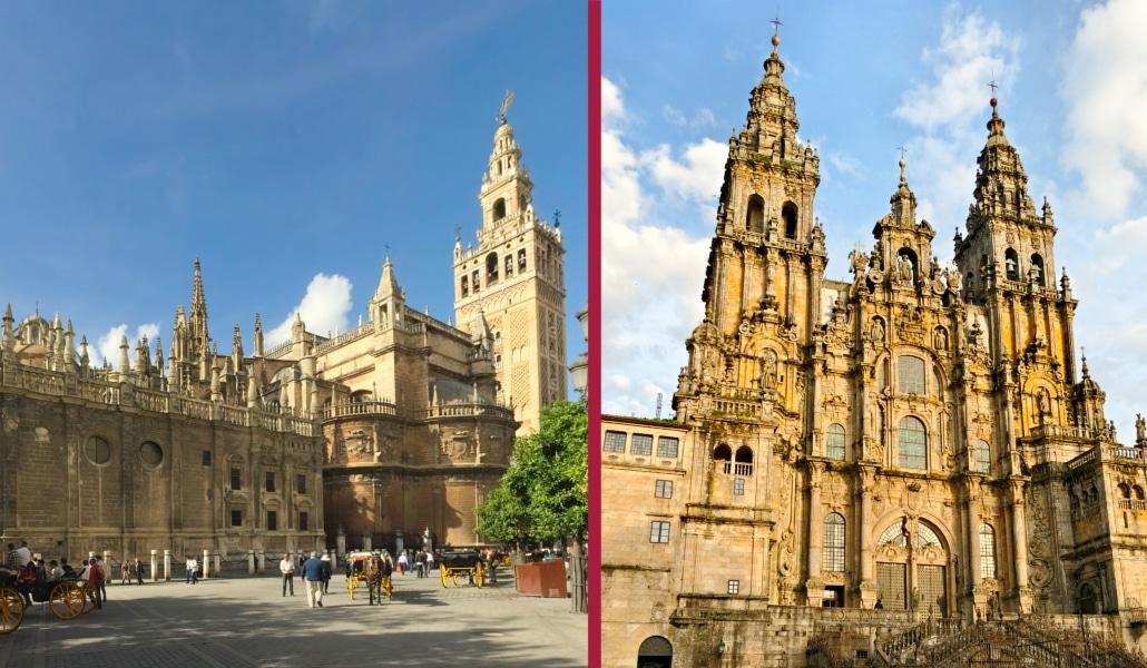 Santiago y Sevilla se enfrentan por el título de «mejor catedral de España»