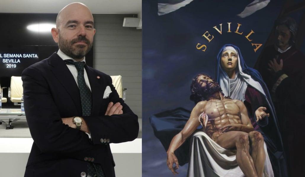 «El cartel es un sueño cumplido», Fernando Vaquero, el artista que ha enamorado a Sevilla