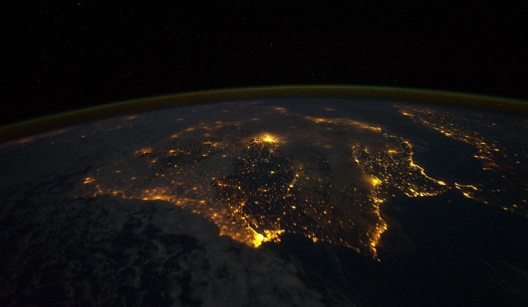 Así se ve Andalucía desde el espacio