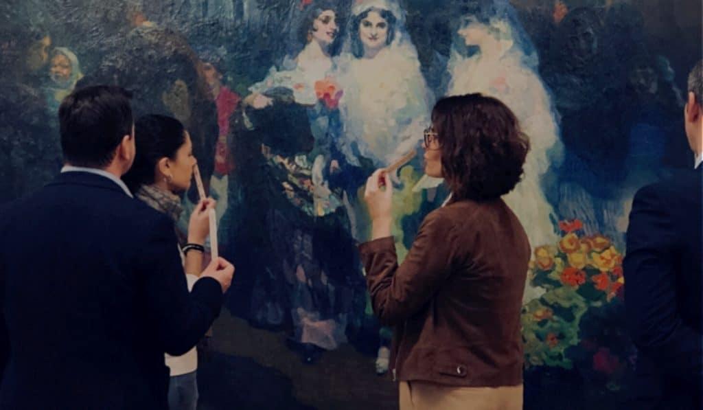 'La pintura a través de los sentidos': una experiencia sensorial en el Museo de Bellas Artes