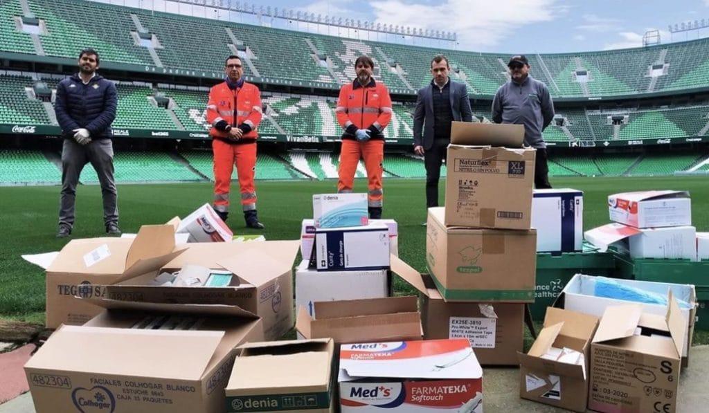 El Betis dona material sanitario al Hospital Virgen del Rocío