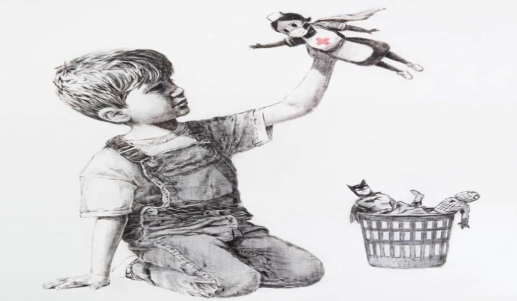 Banksy homenajea al personal sanitario en su última obra