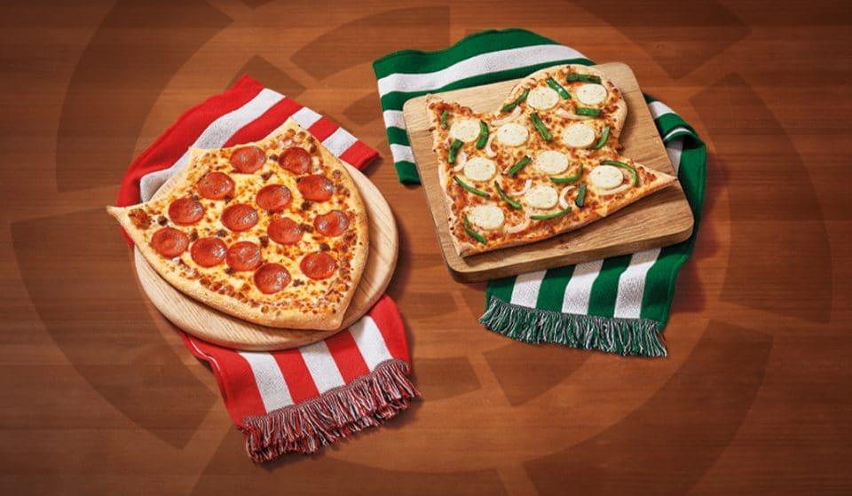 Telepizza lanza unas pizzas del Sevilla y del Betis con motivo del derbi