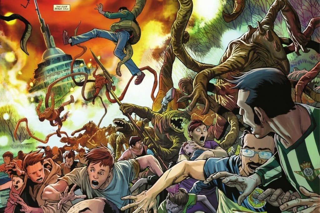 Una camiseta del Betis se cuela en un cómic de Marvel