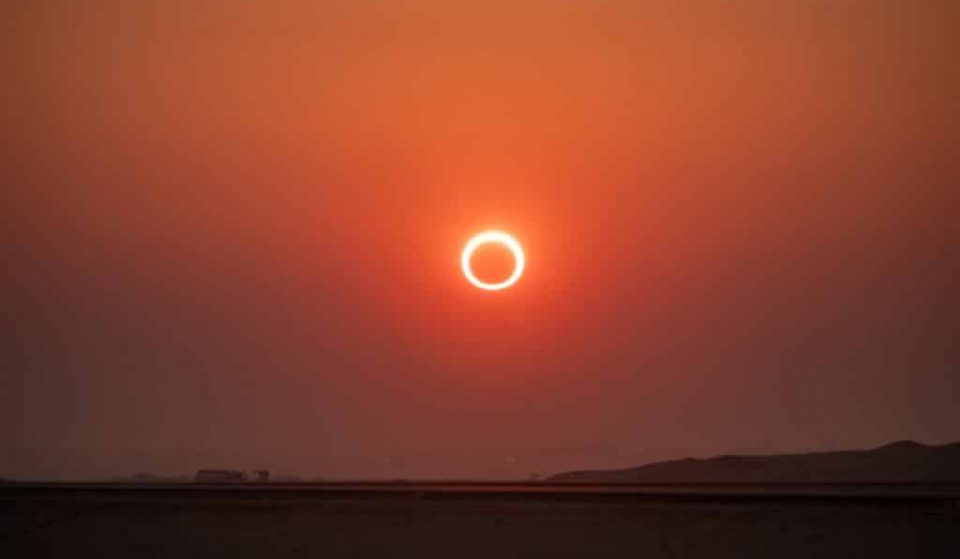 Questo giovedì potrai vedere un'eclissi solare anulare