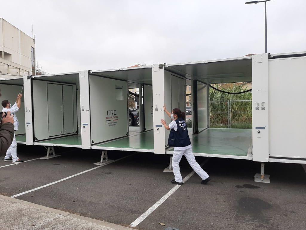 Covid-19 : un Hôpital mobile unique au monde voit le jour à Toulouse !