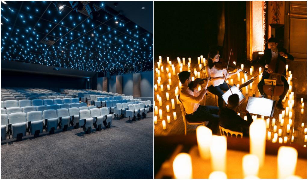 Candlelight au plus près des étoiles dans un magnifique hôtel !