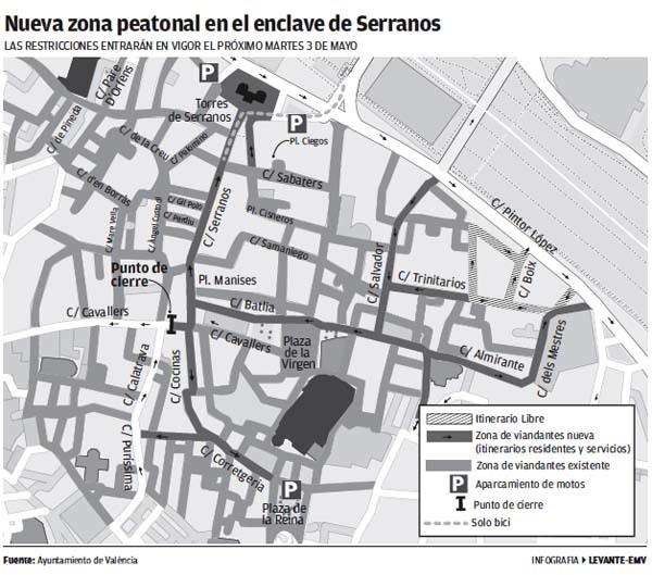 valencia amplia la zona peatonal