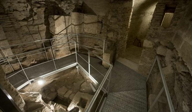 restos romanos debajo de la Catedral de Valencia