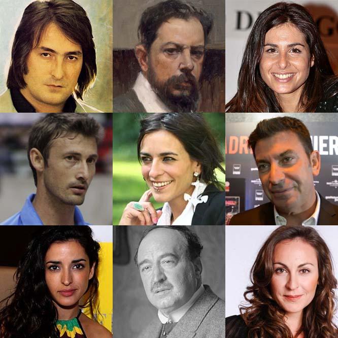 Nino Bravo, Joaquín Sorolla, Nuria Roca, Juan Carlos Ferrero, Bebe, Arturo Valls, Inma Cuesta, Blasco Ibáñez y Ana Milán. Todos valencianos