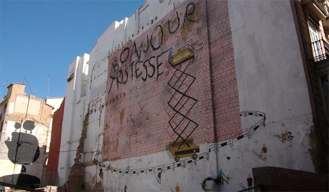 mural en calle conde montornes