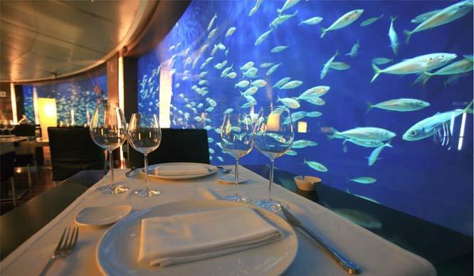 restaurante submarino valencia oceanogràfic