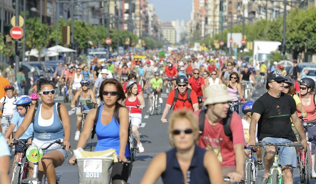 Este domingo las bicicletas toman el centro