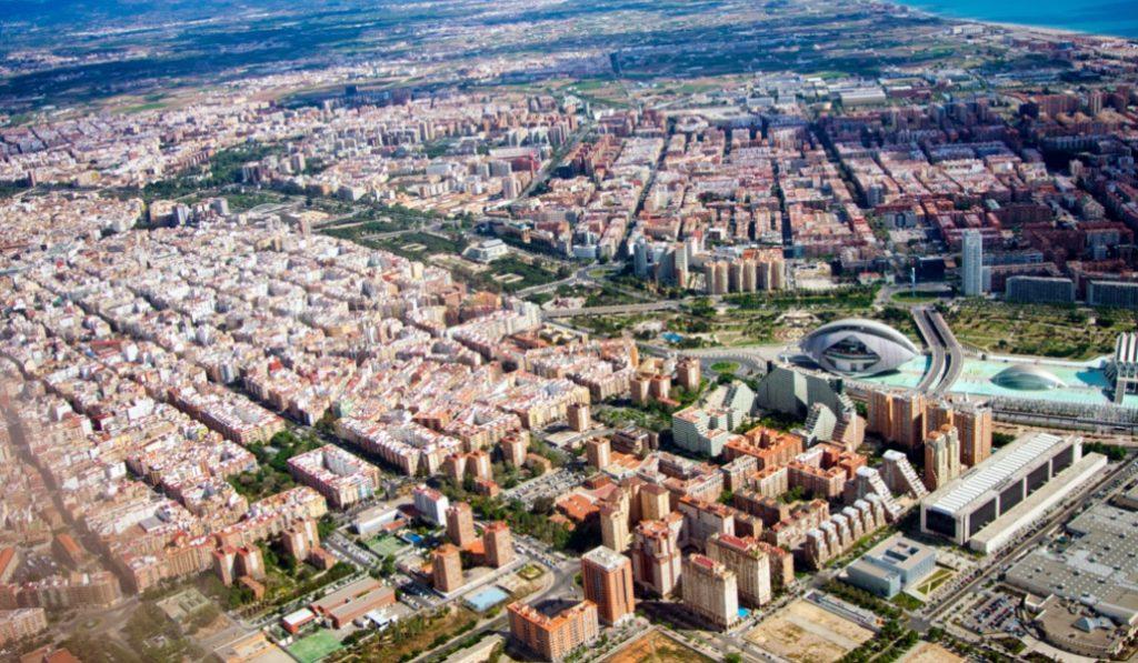 Así es Valencia vista desde las alturas