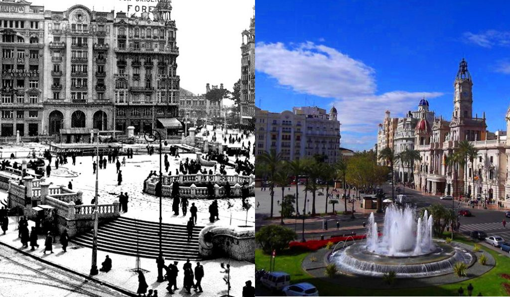 14 fotos del pasado y presente que muestran la evolución de Valencia