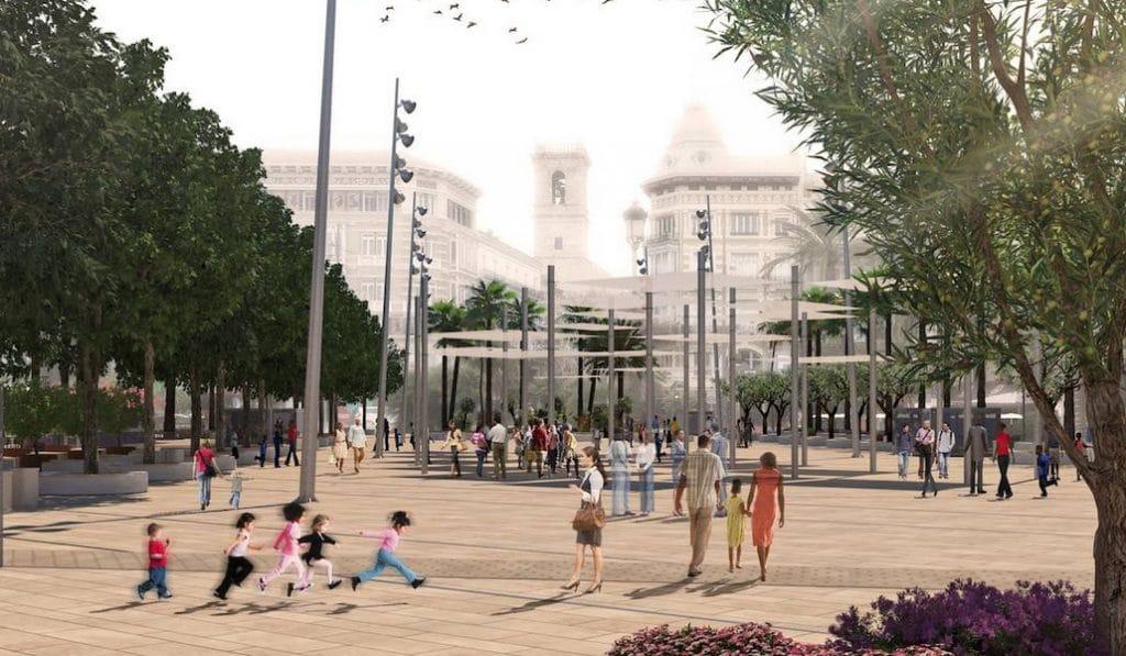 Así será la nueva plaza de la Reina