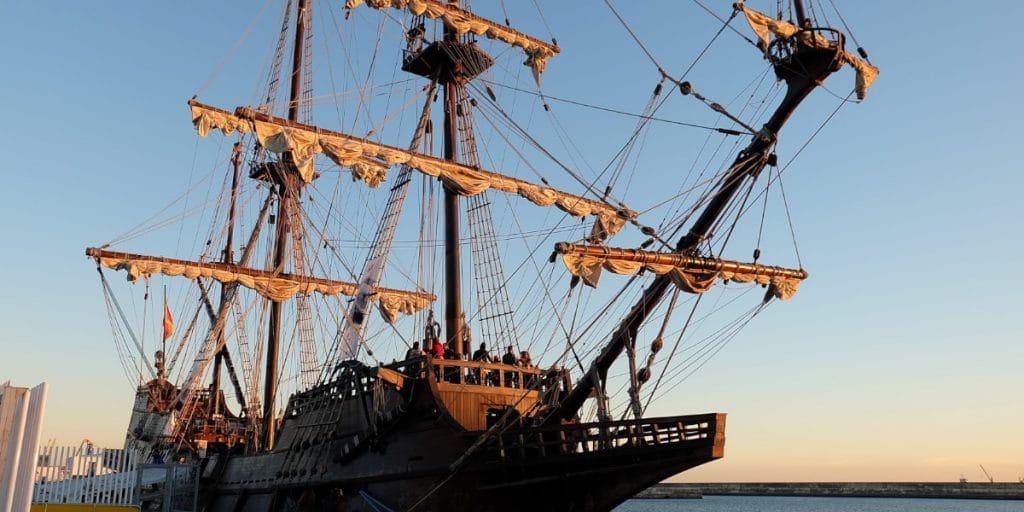 Últimos días para visitar el histórico galeón Andalucía en Valencia