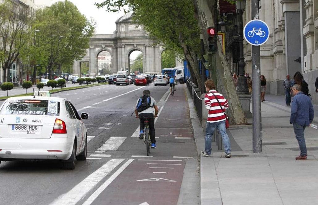 carril bici bus madrid