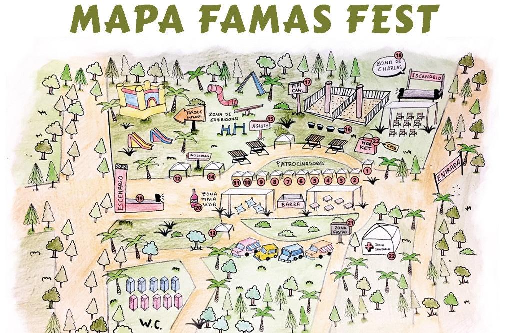 mapa fama fest