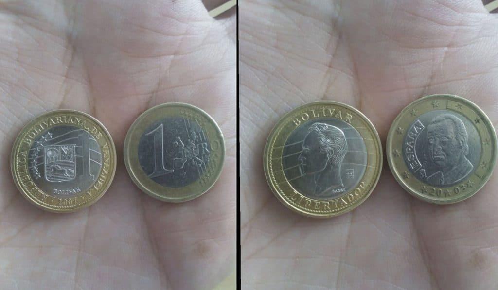 moneda falsa 1 euro