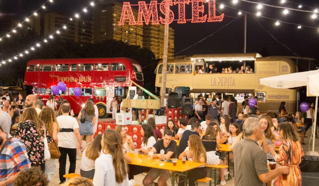 Amstel Market: food trucks, cerveza y música en el cauce del río
