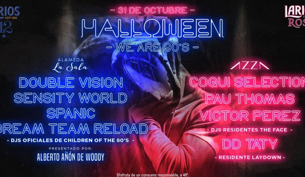 Cartel de Halloween en el Palau Alameda