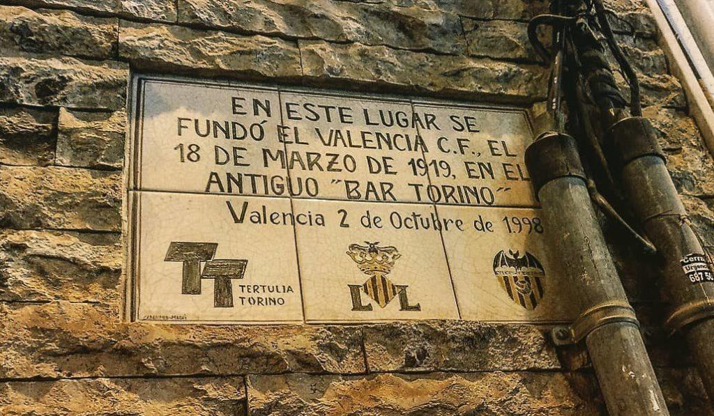 placa bar torino valencia cf
