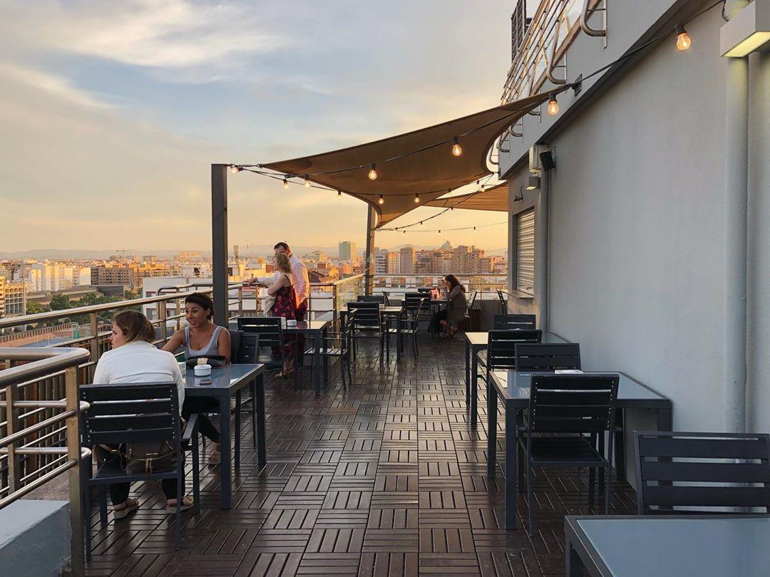 expo hotel valencia terraza
